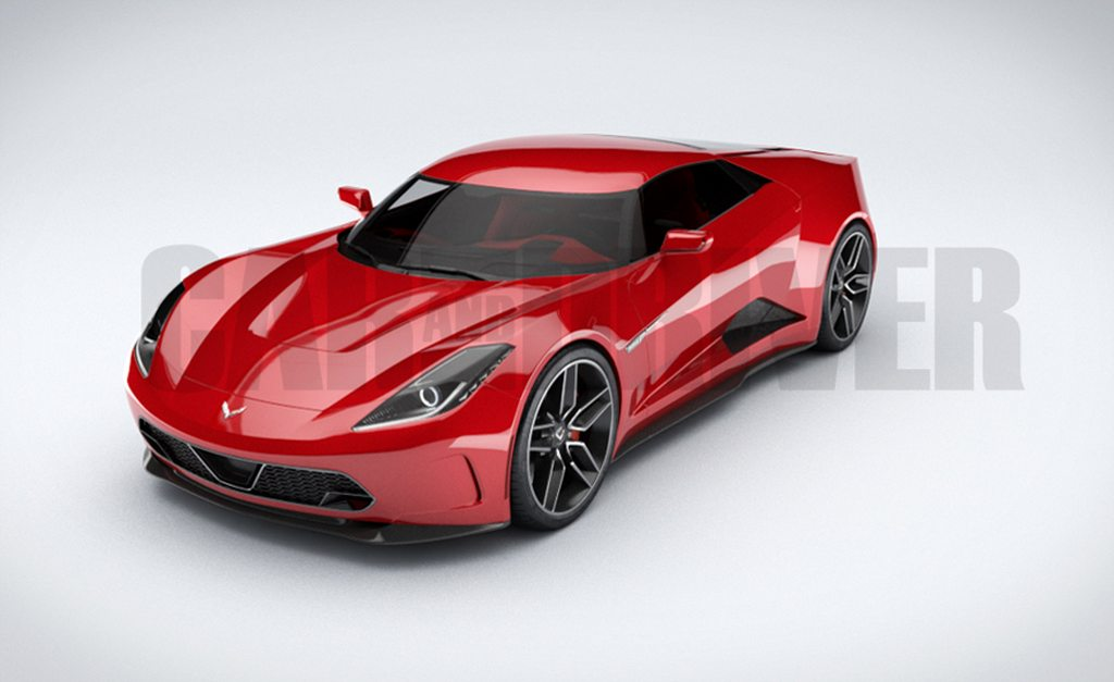 Chevrolet C8 Corvette in its production form will be introduced at ...