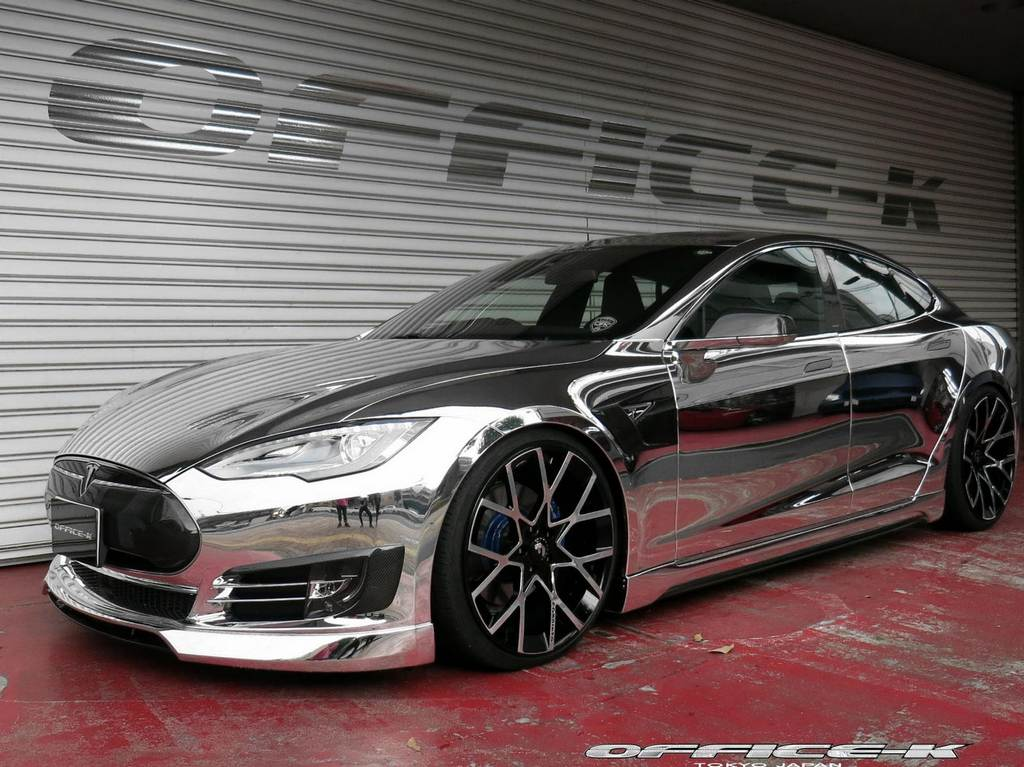 Modified tesla model s was tuned by japanese firm office k the