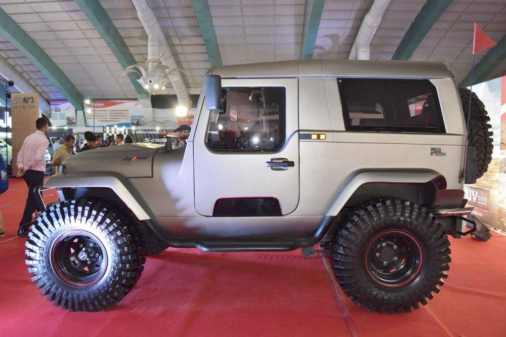 Mahindra Thar Daybreak Edition With Solid Roof Displayed